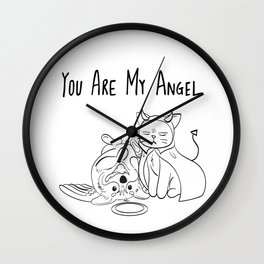 You Are My Angel Wall Clock