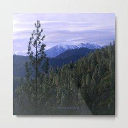 Trinity Alps on a wintry day... Metal Print