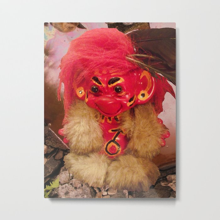 Red Troll Metal Print