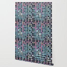 MELANGE OF BLUE and ROSE Wallpaper