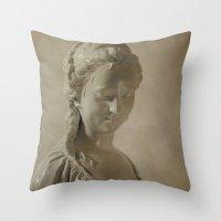 goddess Throw Pillows featuring Goddess by Mary Kilbreath