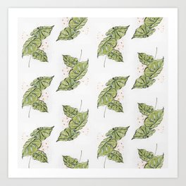 Tropical Foliage Pattern Art Print