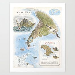 Cape Horn - Exploration AD 1616 Art Print