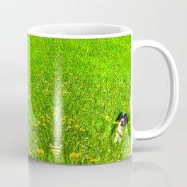 Dog in the Field Coffee Mug