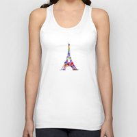 eiffel tower Tank Tops featuring Eiffel Tower  by ron ashkenazi