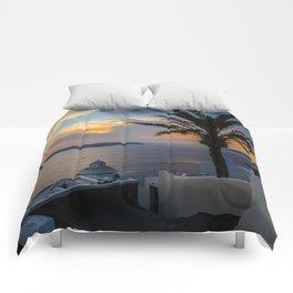 Fira,sunset,Greece Comforters