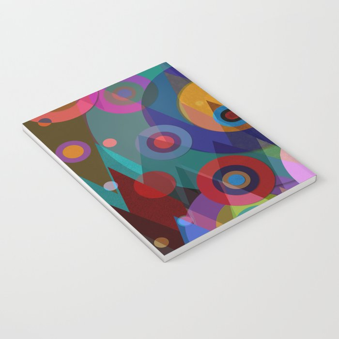 Abstract #507 Triangles & Circles Notebook