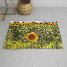 The Lonesome Sunflower Rug