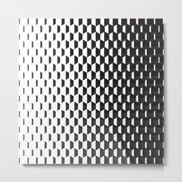 Hexagonal Gradients Metal Print