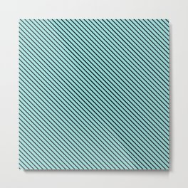 Limpet Shell and Black Stripe Metal Print