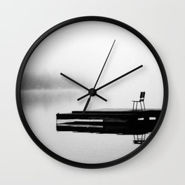 Mason Lake: Lone Bench Wall Clock
