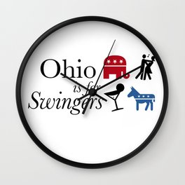 Ohio is for Swingers Wall Clock