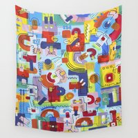 game of thrones Wall Tapestries featuring Game by Tanja K