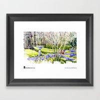 """Shari Blaukopf, """"Blue Lawn"""" Framed Art Print"""