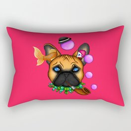 Drunk Dog (Pink) Rectangular Pillow