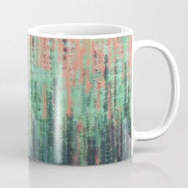 Coral Mint Navy Abstract Coffee Mug