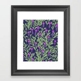 April blooms(Lavender_blue) Framed Art Print