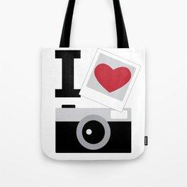 I love camera Tote Bag