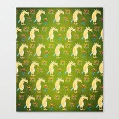 Flowers & Unicorns Canvas Print