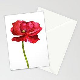 Ink Poppy Painting (Original Artwork) Stationery Cards
