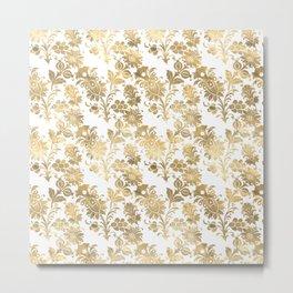 Floral Gold Metal Print
