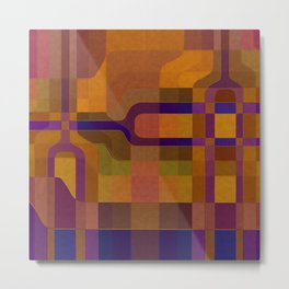 """Retro Labyrinth"" Metal Print"