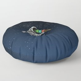 Spacetime Sadness Floor Pillow