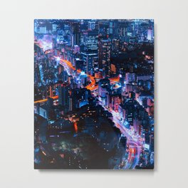 metropolis at night Metal Print