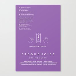 FREQUENCIES HIGH FREQUENCY (MARIE - LILAC) CHARACTER POSTER Canvas Print