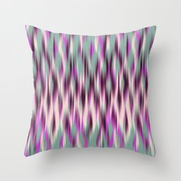 ikat texture weavy on celadon Throw Pillow