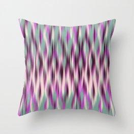 ikat texture weavy on celadon Throw Pillow