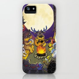 Animal summer camp iPhone Case