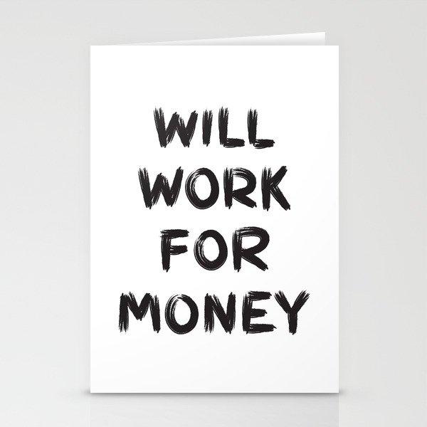 Money Stationery Cards