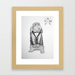 Mister Bunny Framed Art Print
