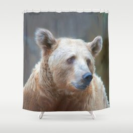 Bear Necessities      (digital painting) Shower Curtain