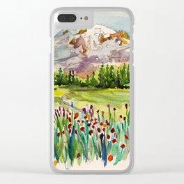 Mount Rainier National Park Clear iPhone Case