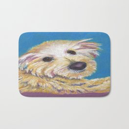 Chance, the Therapy Dog Bath Mat