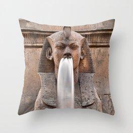 Sphinx Fountain Throw Pillow