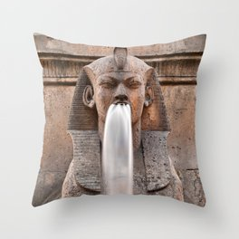 Sphinx Fountain Throw Pillow