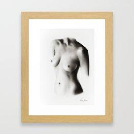 Nude Woman Charcoal Study 58 Framed Art Print