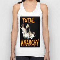 anarchy Tank Tops featuring ANARCHY  by Robleedesigns