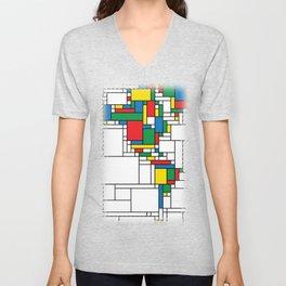 World Map - Modern Unisex V-Neck