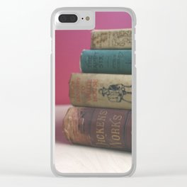Old Books on the Table Clear iPhone Case