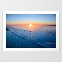 Frozen Sunrise pt. 2 Art Print