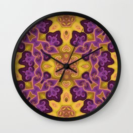 Orchids for Bees Wall Clock