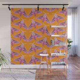 Elephant Hawk Moth - Orange Wall Mural