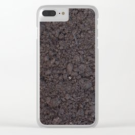 Texture #6 Soil Clear iPhone Case