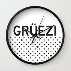 Gruezi//Five Wall Clock
