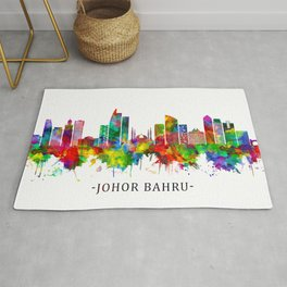 Johor Bahru Malaysia Skyline Rug