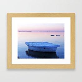 Ice Raft at Dusk on Calm Seas Framed Art Print
